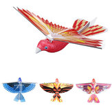10.6Inches Electric Flying Flapping Wing Bird Toy Rechargeable Plane Toy Kids Outdoor Fly Toy