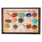 Rock Collection Mix Gems Crystals Natural Teaching Mineral Ore Specimens Dekoracje Box