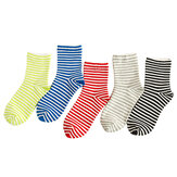 Women Winter Warm Cotton Striped Tube Socks Ankle Sock