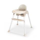 Cadeira alta para bebê conversível cadeira de couro pu Booster cadeira alta ajustável para alimentação infantil