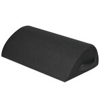 Black Mesh Semicircle Net Footrest Office Home High Rebound Foot Moving Placing Mat Pillow