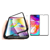 Bakeey Magnetic Adsorption Aluminum Alloy Tempered Glass Protective Case + Mofi 2.5D Tempered Glass Screen Protector For Samsung Galaxy A70 2019