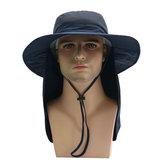 قبعة كبيرة في الهواء الطلق مع غطاء عباءة قابلة للطي أشعة الشمس المضادة للأشعة فوق البنفسجية لطي متعددة الأغراض