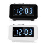 K6 Smart Alarm Clock bluetooth Speaker Portable Wireless Stereo Speaker LCD Screen Display Temperature Music Player
