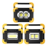2 in 1 LED Flashlight Work Light USB COB Rechargeable Camping Lamp Searchlight