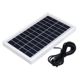 5W 12V Solar Panel Polysilicon Solar Power Panel Energy Saving W/ 3m DC Cabel