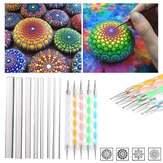 13Pcs Mandala Dotting Tools Set Felsmalerei Satz Nail Art Pen Paint Schablone