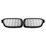 Pair Gloss Black Front Kidney Grille For BMW F30 F31 F35 320i 328i 330i