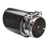 Car Exhaust Tip Glossy Black Carbon Fiber End Pipe Muffler Universal 80mm 101mm