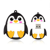 MicroDrive Mini USB Flash Drive 32GB/64GB/128GB Cartoon Owl Penguin Bee Pendrive High Speed External USB 2.0 Memory Storage Disk U Disk