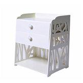 Carved Lockers Nachtkastjes 40x30x50 cm Eenvoudige nachtkastjes met twee lades