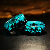 Time Gem Epoxy Ring DIY Handgemachte Tuschemalerei Magic Forest Resin Ring Unisex