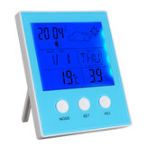 CH-904 Digital Termômetro Hygrometer Temperature Humidity Tester LED Backlight Time Date Calendário Alarme Relógio Display Indoor