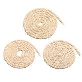 Corde en macramé 4/5 / 6mm naturel Beige coton cordon torsadé chaîne bijoux à bricoler soi-même Bracelet artisanat