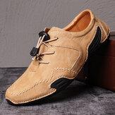 Menico Menico Натуральная Кожа Удобная повседневная обувь на плоской подошве с нескользящей подошвой, Натуральная Кожа, Soft