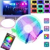 1/2/3/4 / 5M 2835RGB Flexível LED Luzes de tira Bluetooth Controle de APP USB Bar TV Luz traseira Decorações de Natal Apuramento Luzes de Natal