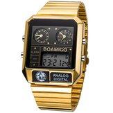 BOAMIGO F928 Mode Heren Digitaal horloge Datum Weekweergave Chronograaf 3 Tijdzone Waterdicht LED-horloge met dubbele display