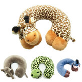 Polyester Fibre Cartoon Animal U Shaped Pillow Breathable Neck Support Travel Fitness Relaxing Head Rest Cushion