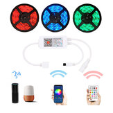 LUSTREON WiFi 4Pins 24 Keys Remote Control RGB LED Controller Works with Amazon Alexa DC5-24V