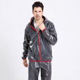 Men's Outdoor Breathable Waterproof Hooded Raincoat Suit