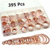 395pc cuivre anneau plat vaisselle joints raccord 18 sz métrique électrique automobile