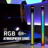 RGB USB Energy Saving Lamp Luz de ritmo de captação ativada por voz Lâmpada ambiente de carro Música luz ambiente luz de jogo