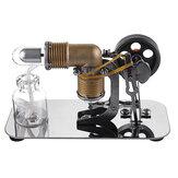 Mini Hot Air Stirling Engine Motor Model Pendidikan Toy Kit