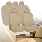 Universal Car Beige Washable Seat Covers Full Seat Set Front & Rear Protectors