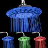 8 pollici LED Soffione doccia rotondo Soffione doccia a pioggia Modifica temperatura