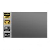 100/120-calowy metalowy ekran projektora przeciwoświetlnego Przenośny składany 16: 9 Pełny HD Zewnętrzne kino domowe