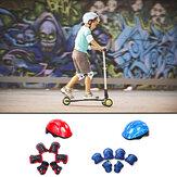 7StksKinderenFietsenSchaatsenSkateboard Fietshelm Elleboog Knie Hand Pads Sport Beschermende Uitrusting