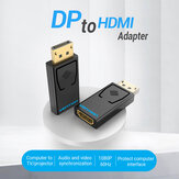 Adaptador VENTION DP para HDMI 1080P Conversor de porta macho para HDMI feminino para projetor de laptop PC
