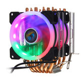 Aurora Colorful 3Pin 2 Retroiluminado Ventiladores 6 Tubo De Cobre Dual Tower CPU Cooler Fan Cooler Dissipador para Intel AMD