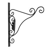 2PCS Cast Iron Garden Hanging Basket Hook Bracket Planter Home Wall Ornate Decoration