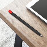 Bakeey滑り止め滑り止めシリコンタッチスクリーンスタイラスペン保護ケース、ApplePencil第1世代/第2世代用キャップ付き