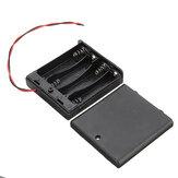 4 ranuras AA Batería Caja Batería Placa de soporte con interruptor para 4xAA Baterías DIY kit Caso