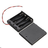 4 Yuva AA Batarya Kutu Batarya 4xAA için Anahtarlı Tutucu Kart Bataryalar DIY kiti Kılıf