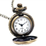 Pocket Watch Alice In Wonderland Drink Me Rabbit Flower Pocket