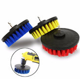 5 Inch rood / geel / blauw varkenshaar elektrische boor borstel reinigingsborstel voor stofverwijdering