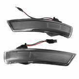 2Pcs Rearview Mirror Lamps Side Turn Signal Lights For Ford Focus MK3 MK3.5 2012-2017