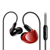 3.5mm Jack Wired مراقبة Earphone Stereo Sound Canceling Headset with Mic for iPhone