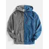Sweats à capuche décontractés avec cordon de serrage en velours côtelé pour homme