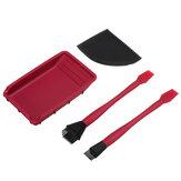 Kit de colle en silicone Wnew 4 pièces brosse large / étroite avec grattoir plat et plateau de colle ensemble de Kit de collage de bois