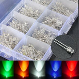300PCS 3MM 5 assortiment de couleurs rond clair clair LED lampe à diodes électroluminescentes