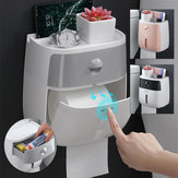 Tempat Kertas Toilet Wall Mounted Self Adhesive Tissue Paper Holder Box Untuk Roll Paper Kitchen Paper Tissue Paper