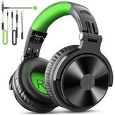 Oneodio Pro-G Wired Headphones Stereo 50MM Drivers Noise Reduction Over-Ear Earphone 3.5MM/6.35MM Foldable Studio DJ Gaming Headset with Detachable Mic