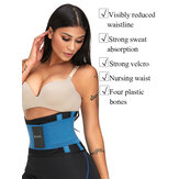 ZANZEA Unisex Double Fixed Waist Trainer Patchwork Sanduhr Body Shapewear
