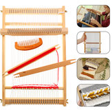 DIY Traditional Wooden Weaving Loom Machine Pretend Play Toys Kids Knitting Craft