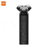Xiaomi Mijia S1 Elétrico Navalha IPX7 Máquina de barbear a seco e à prova d'água 3 lâminas Trimmer Shaver USB recarregável para presente de homem Portátil em viagem