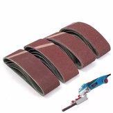 20pcs 3x21 pouces de ponçage ceintures 40/60/80/120 grains de sable d'oxyde d'aluminium abrasif ponçage ceintures